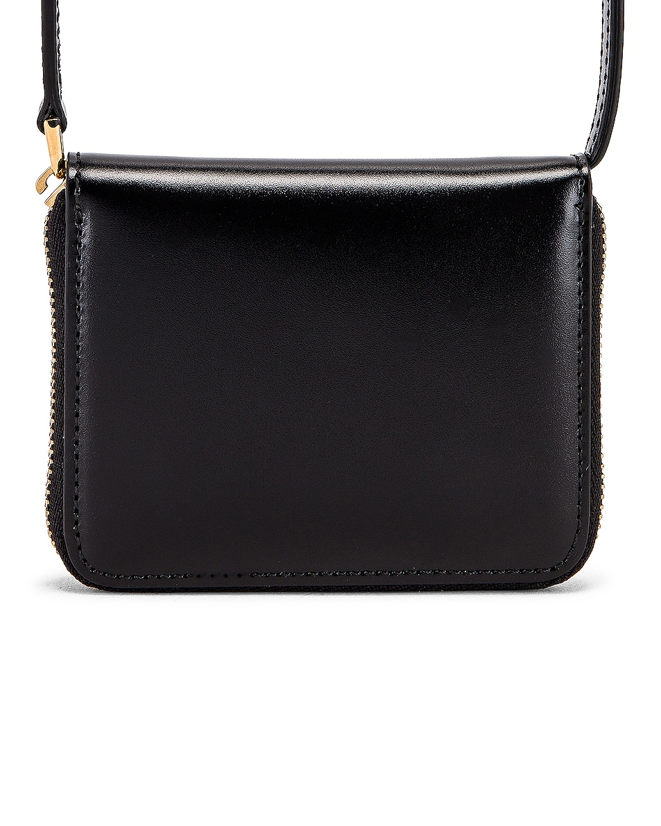 Image 3 of Jil Sander Hook Zip Wallet Crossbody Bag in Black