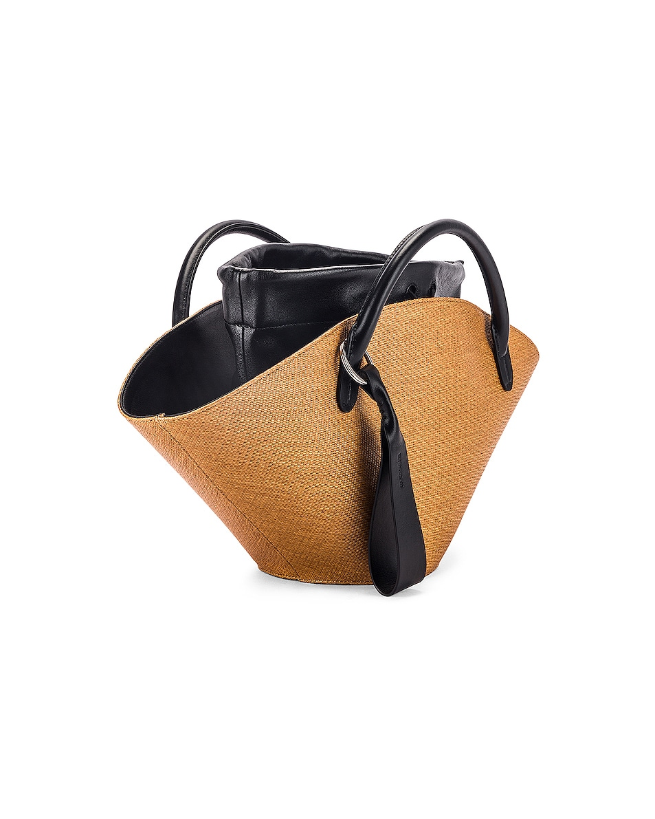 Image 4 of Jil Sander Small Sombrero Tote in Peanuts