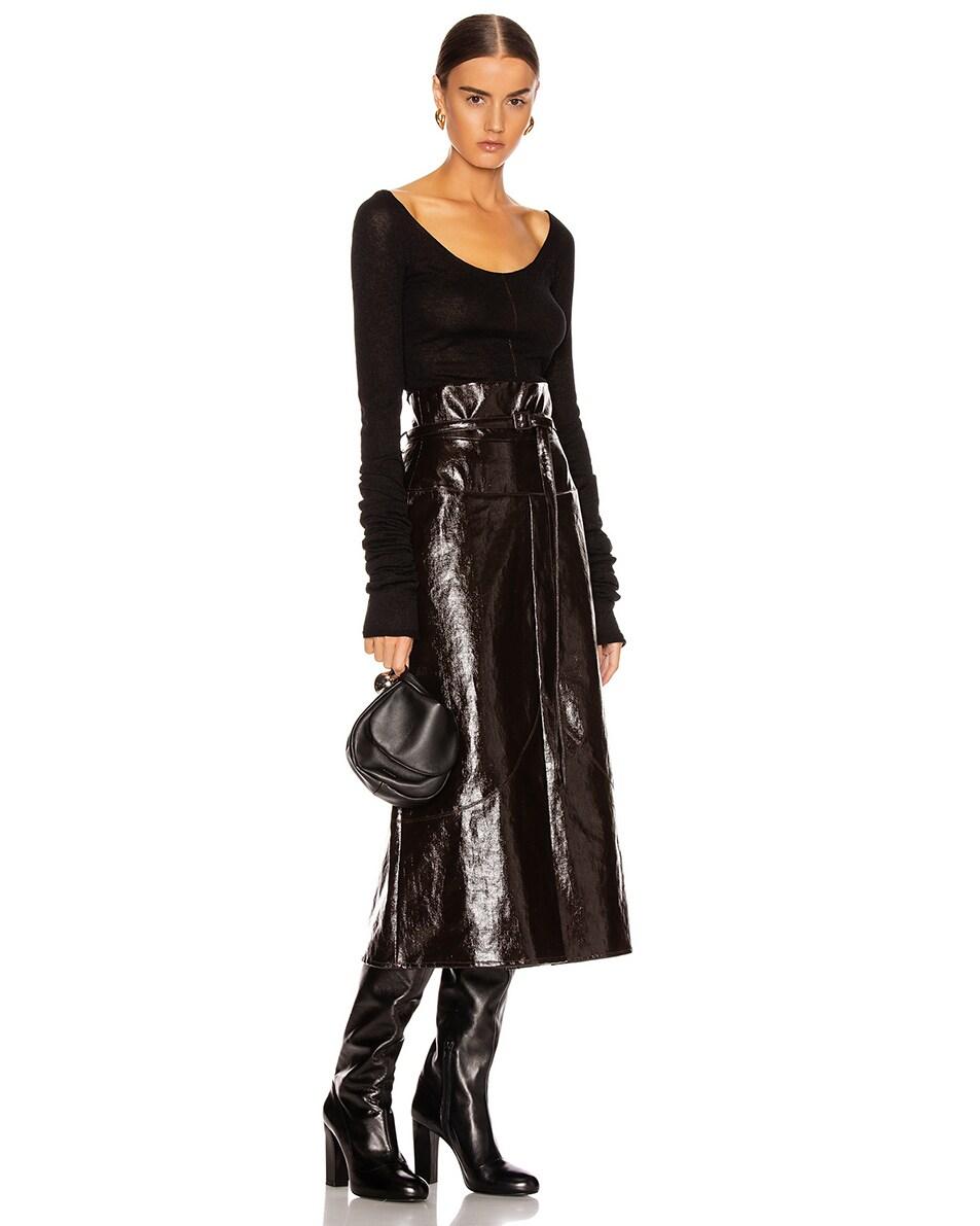 Image 2 of Jil Sander Sphere Pouch Bag in Black