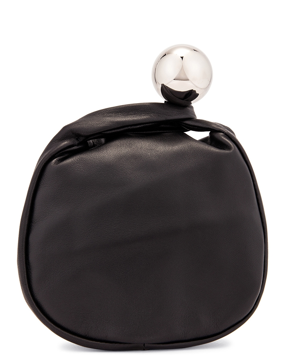 Image 3 of Jil Sander Sphere Pouch Bag in Black