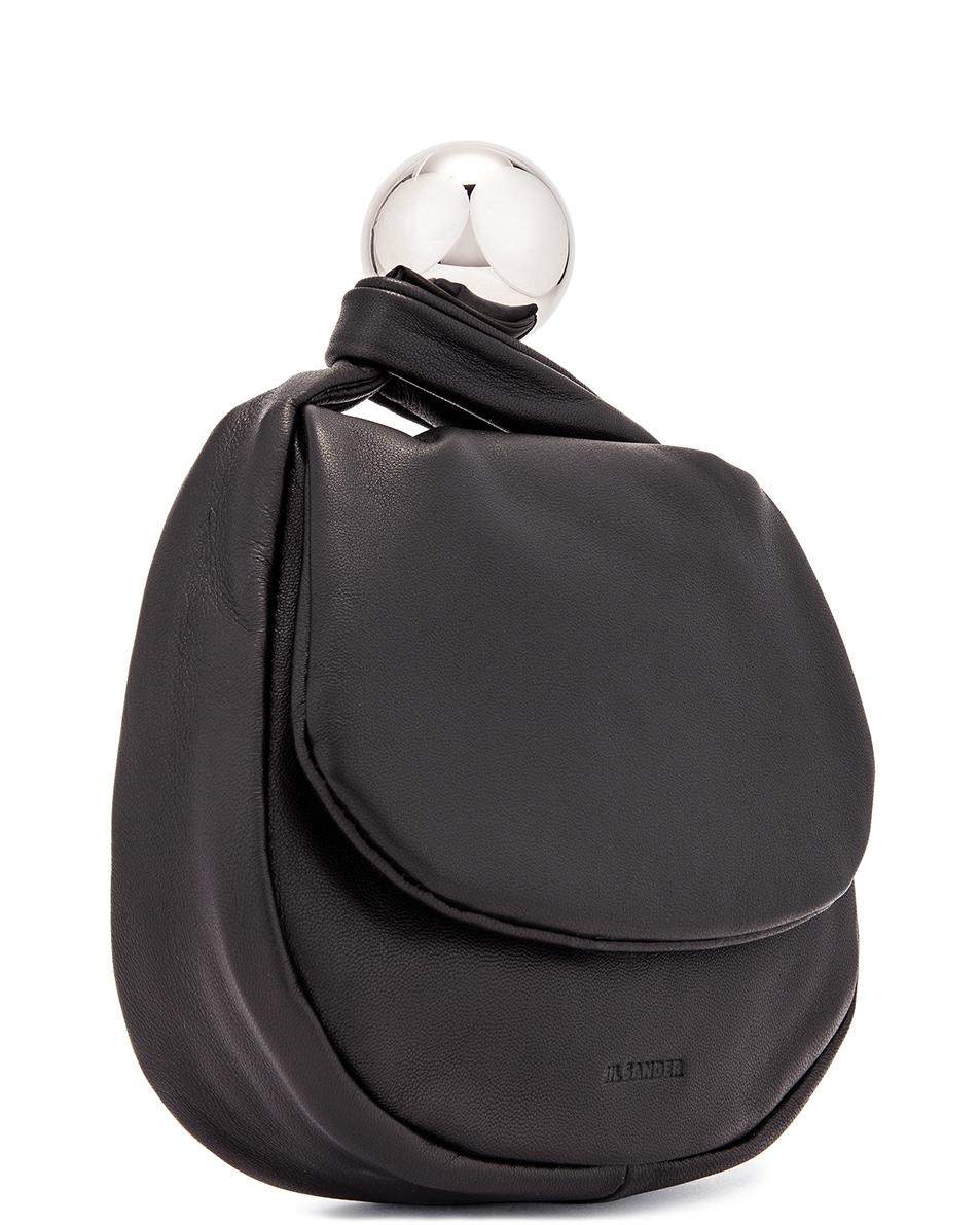 Image 4 of Jil Sander Sphere Pouch Bag in Black