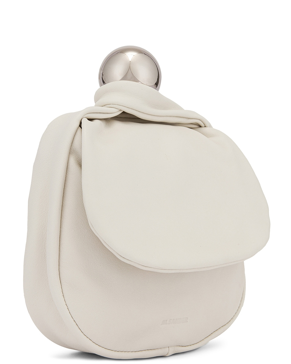 Image 4 of Jil Sander Sphere Pouch Bag in Optic White