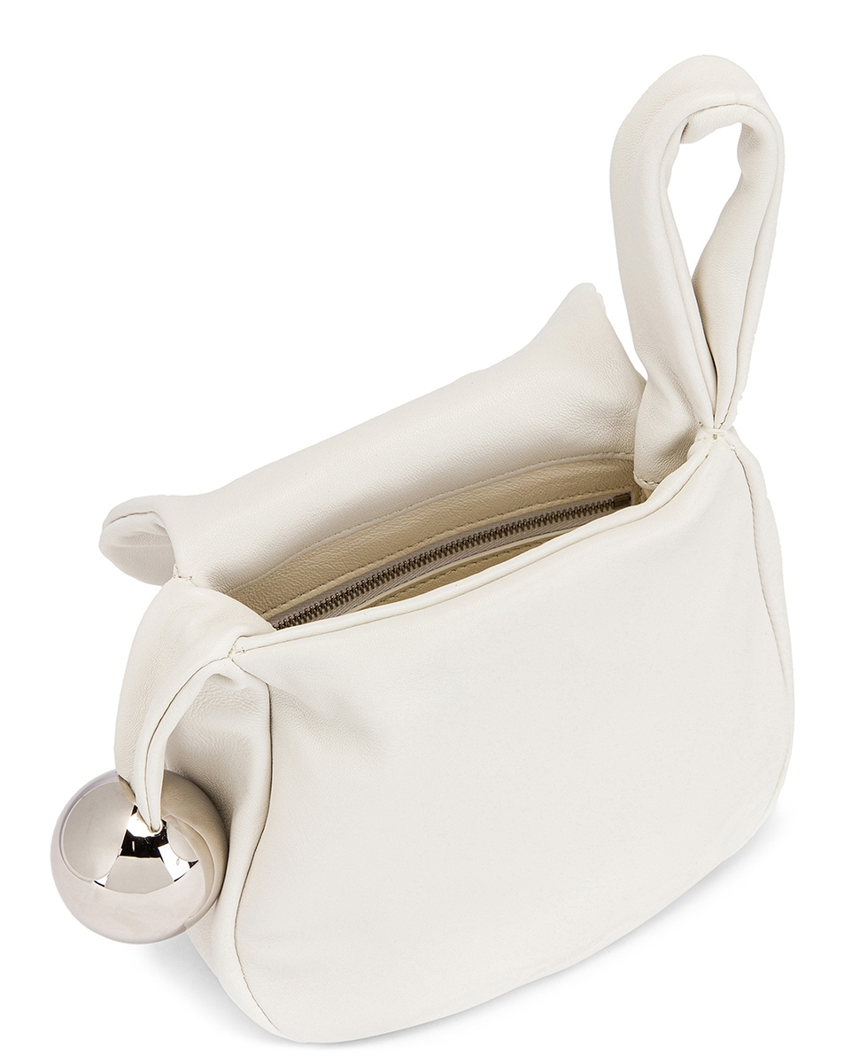 Image 5 of Jil Sander Sphere Pouch Bag in Optic White