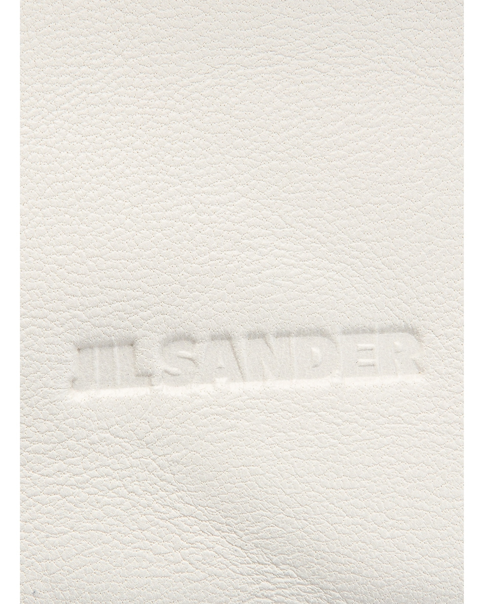 Image 6 of Jil Sander Sphere Pouch Bag in Optic White
