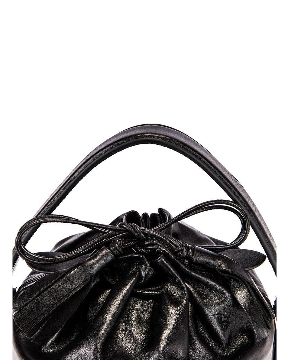 Image 8 of Jil Sander Small Drawstring Drum Bag in Black