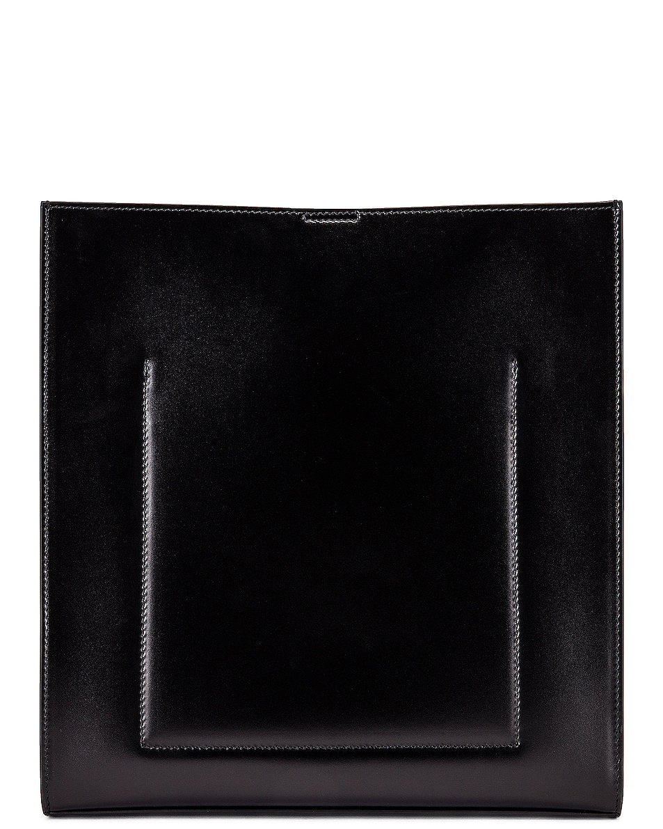 Image 3 of Jil Sander Medium Tangle Leather Crossbody Bag in Black