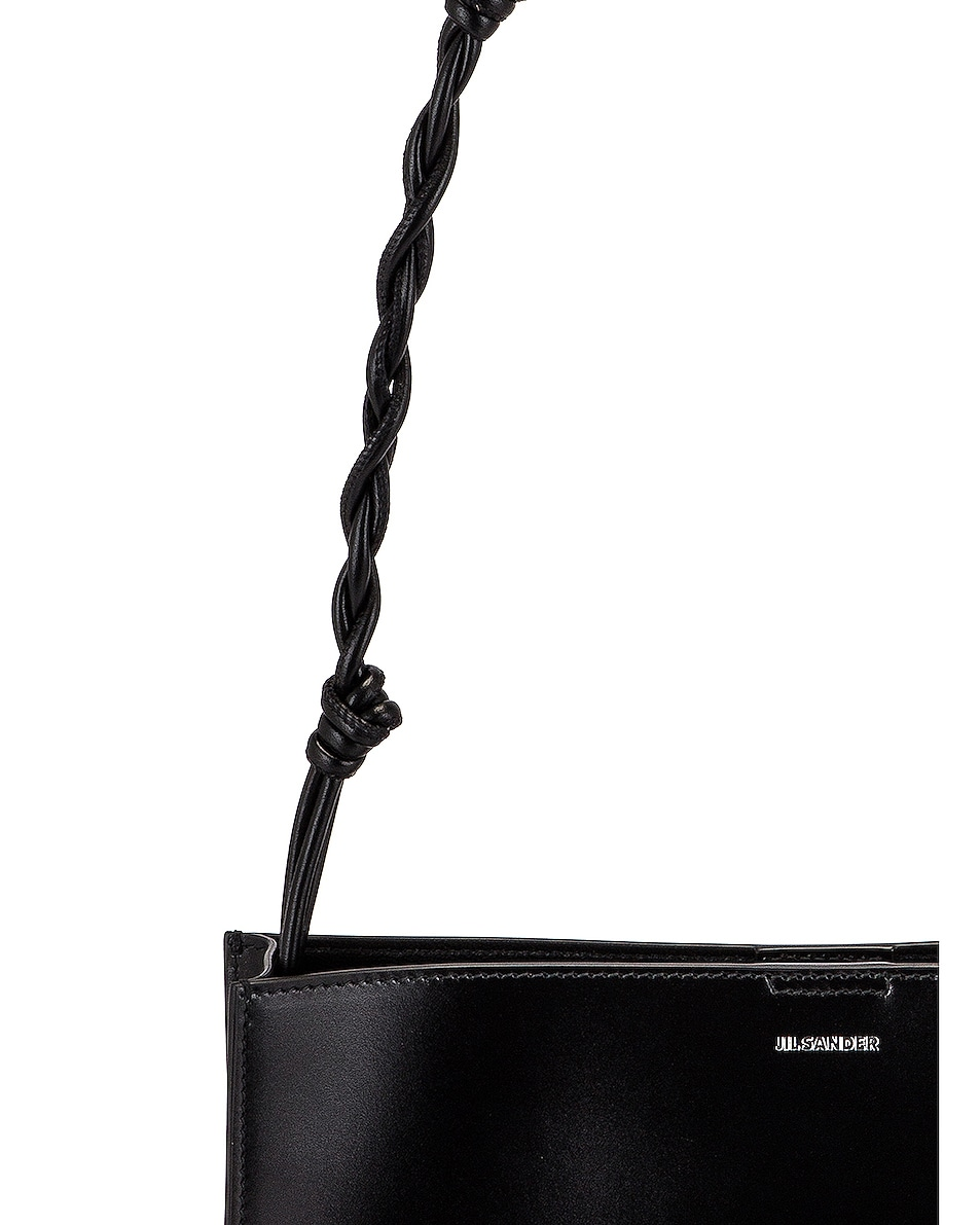 Image 8 of Jil Sander Medium Tangle Leather Crossbody Bag in Black