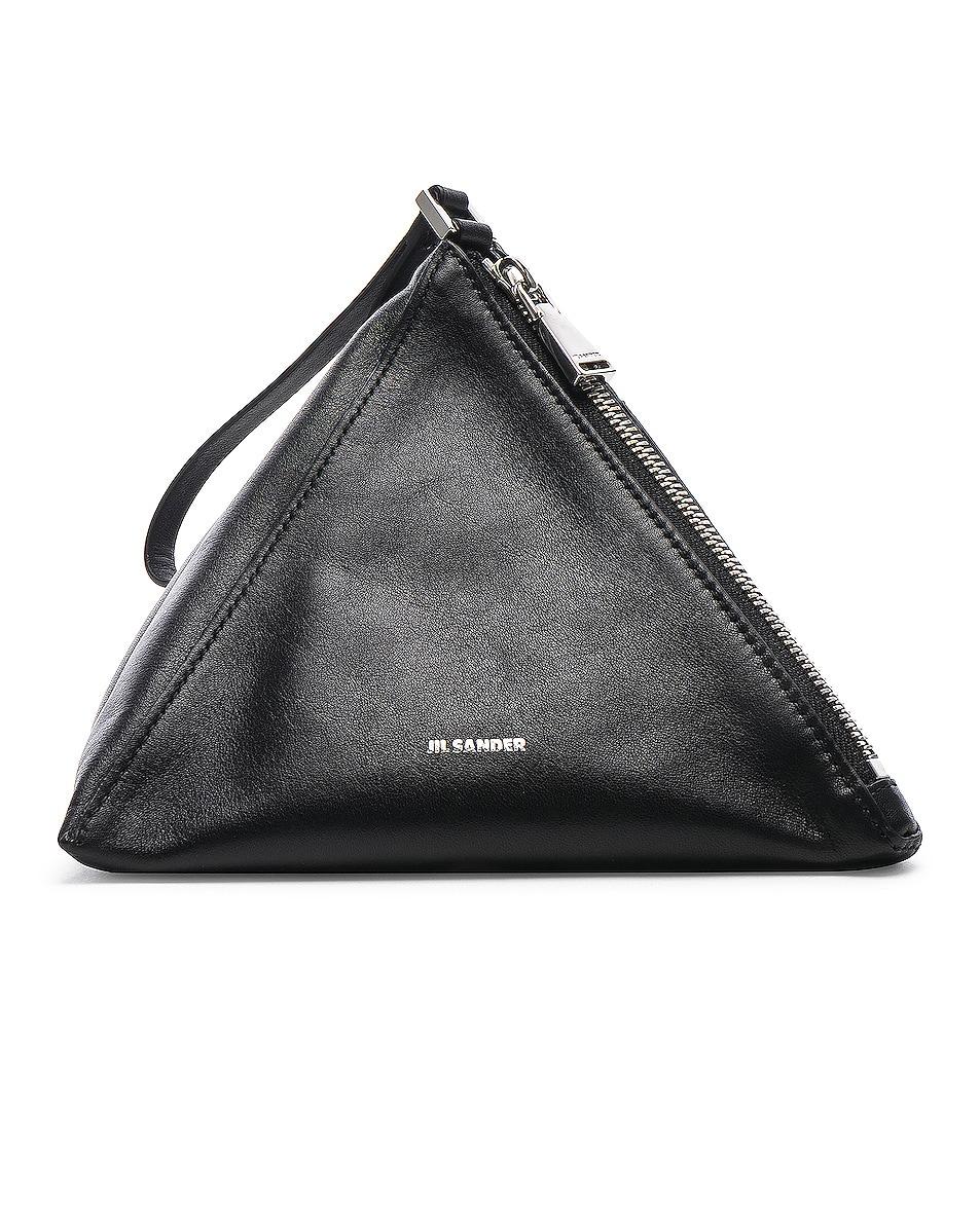 Image 1 of Jil Sander Triangle Mini Bag in Black