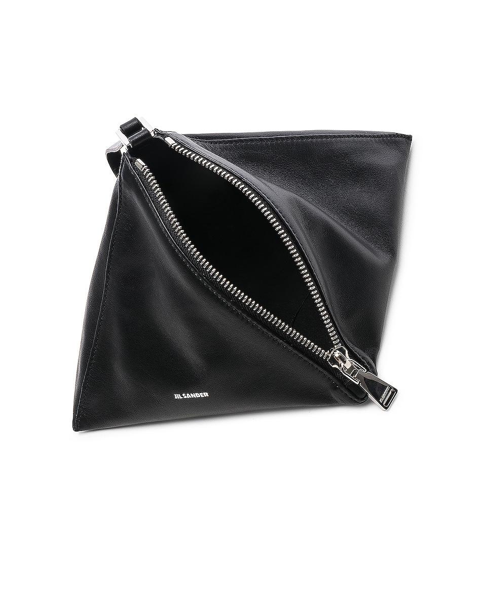 Image 5 of Jil Sander Triangle Mini Bag in Black