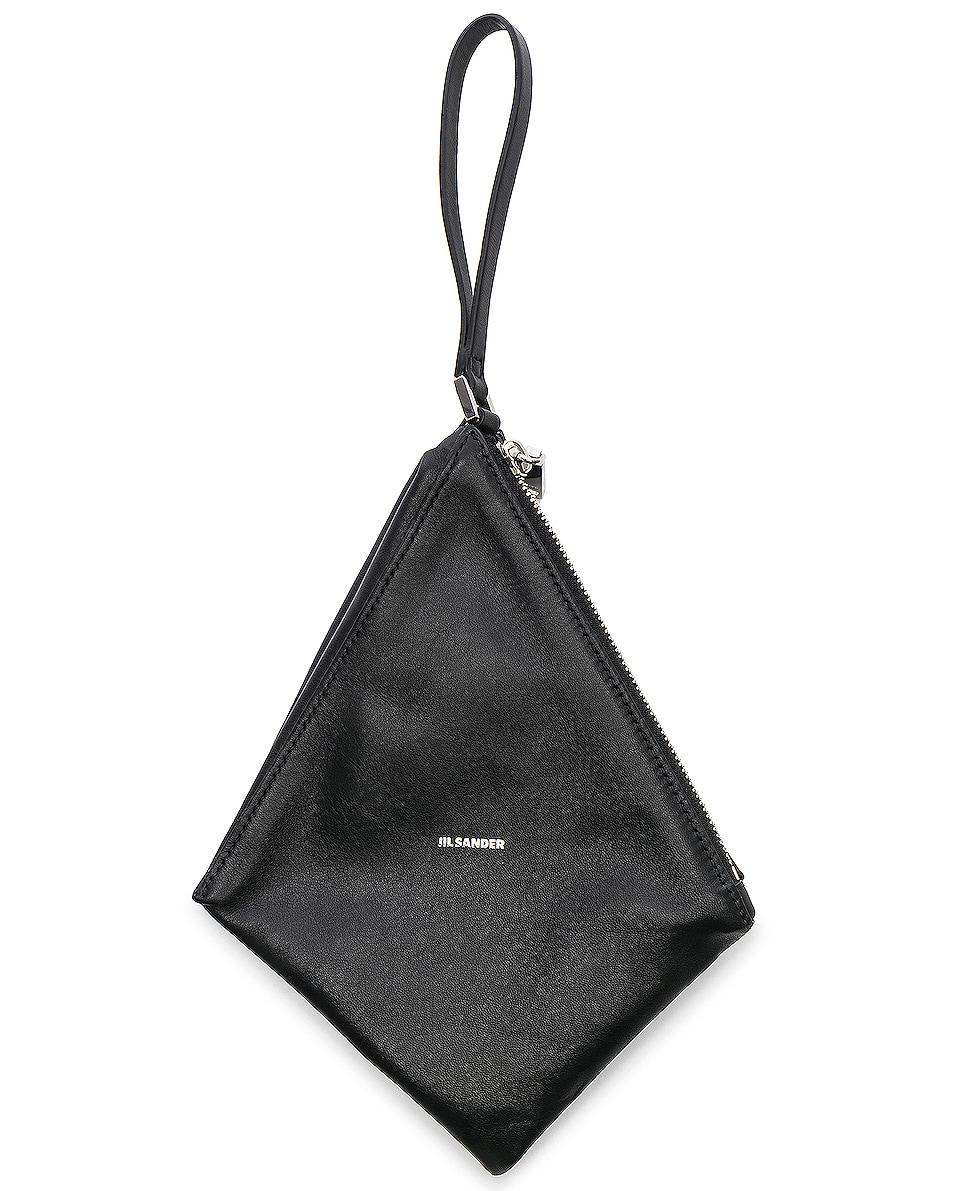 Image 6 of Jil Sander Triangle Mini Bag in Black