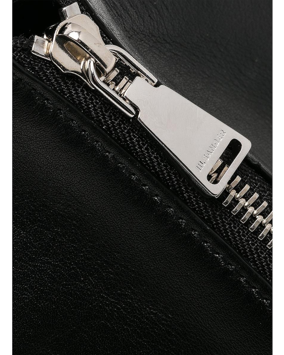 Image 8 of Jil Sander Triangle Mini Bag in Black