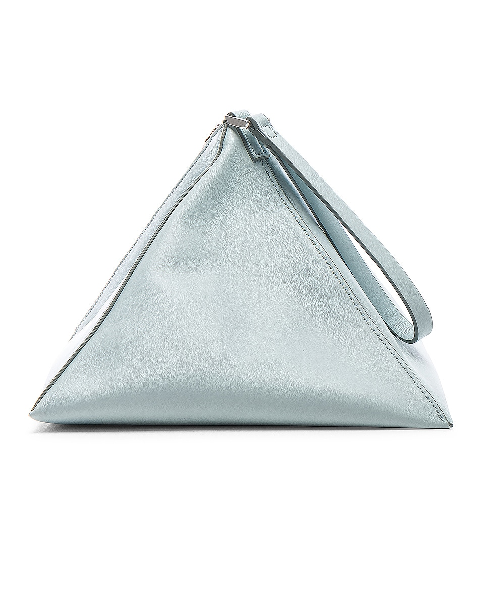 Image 2 of Jil Sander Triangle Mini Bag in Light Pastel Blue