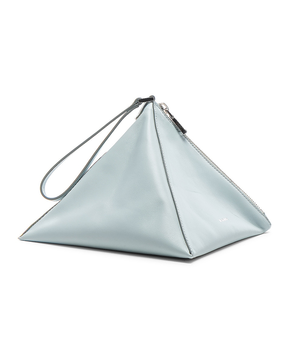 Image 3 of Jil Sander Triangle Mini Bag in Light Pastel Blue