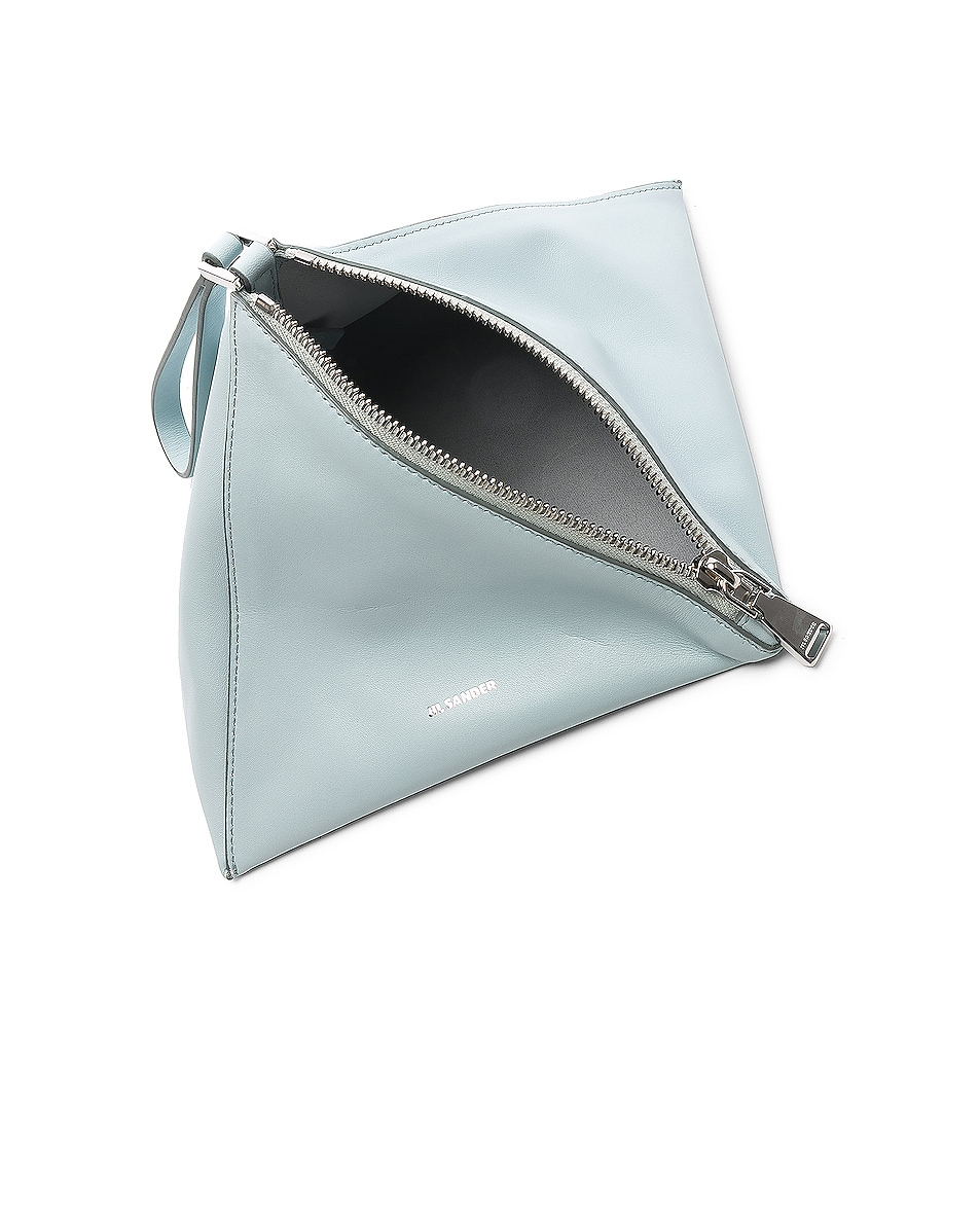 Image 4 of Jil Sander Triangle Mini Bag in Light Pastel Blue