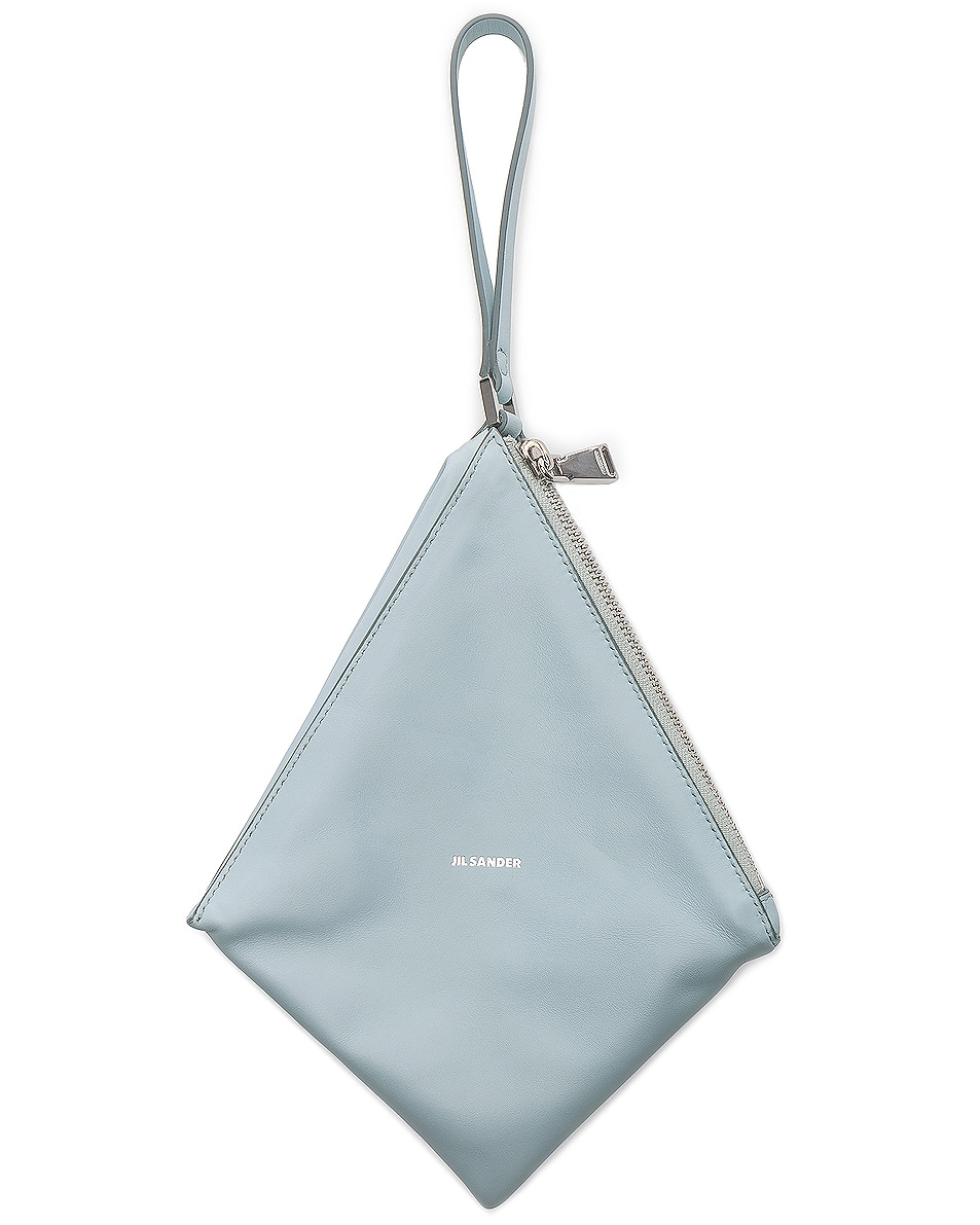 Image 5 of Jil Sander Triangle Mini Bag in Light Pastel Blue
