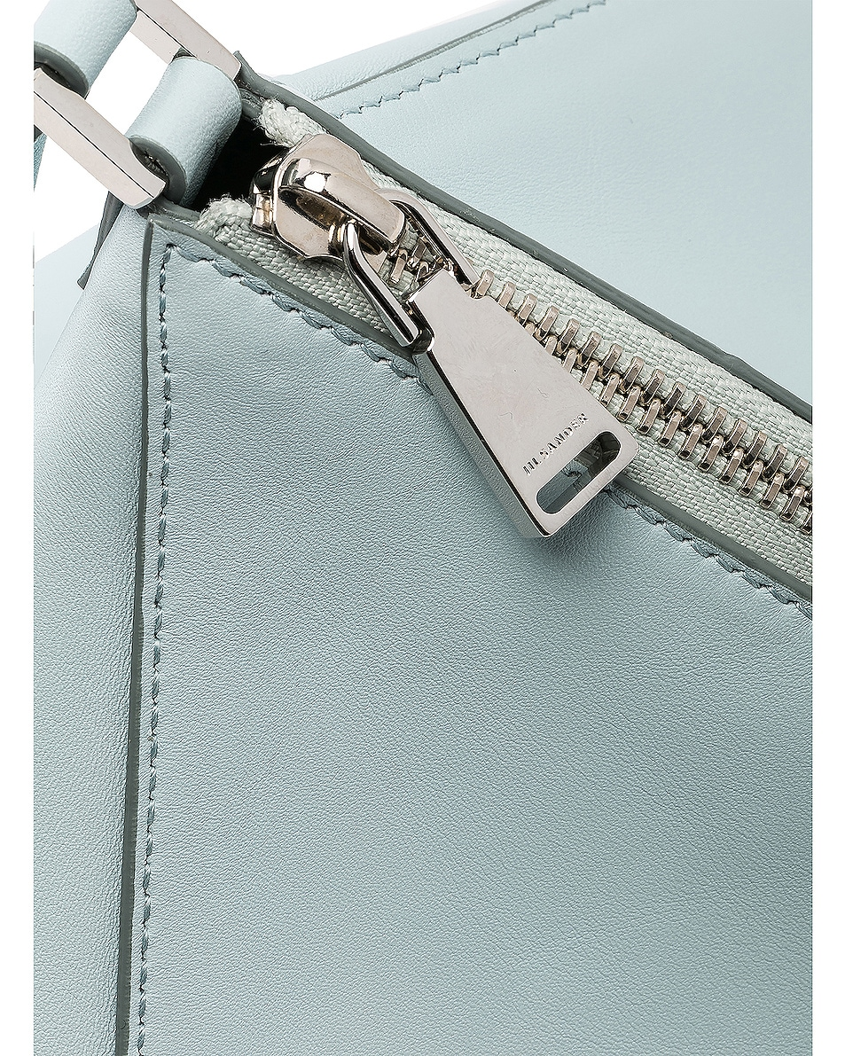 Image 8 of Jil Sander Triangle Mini Bag in Light Pastel Blue
