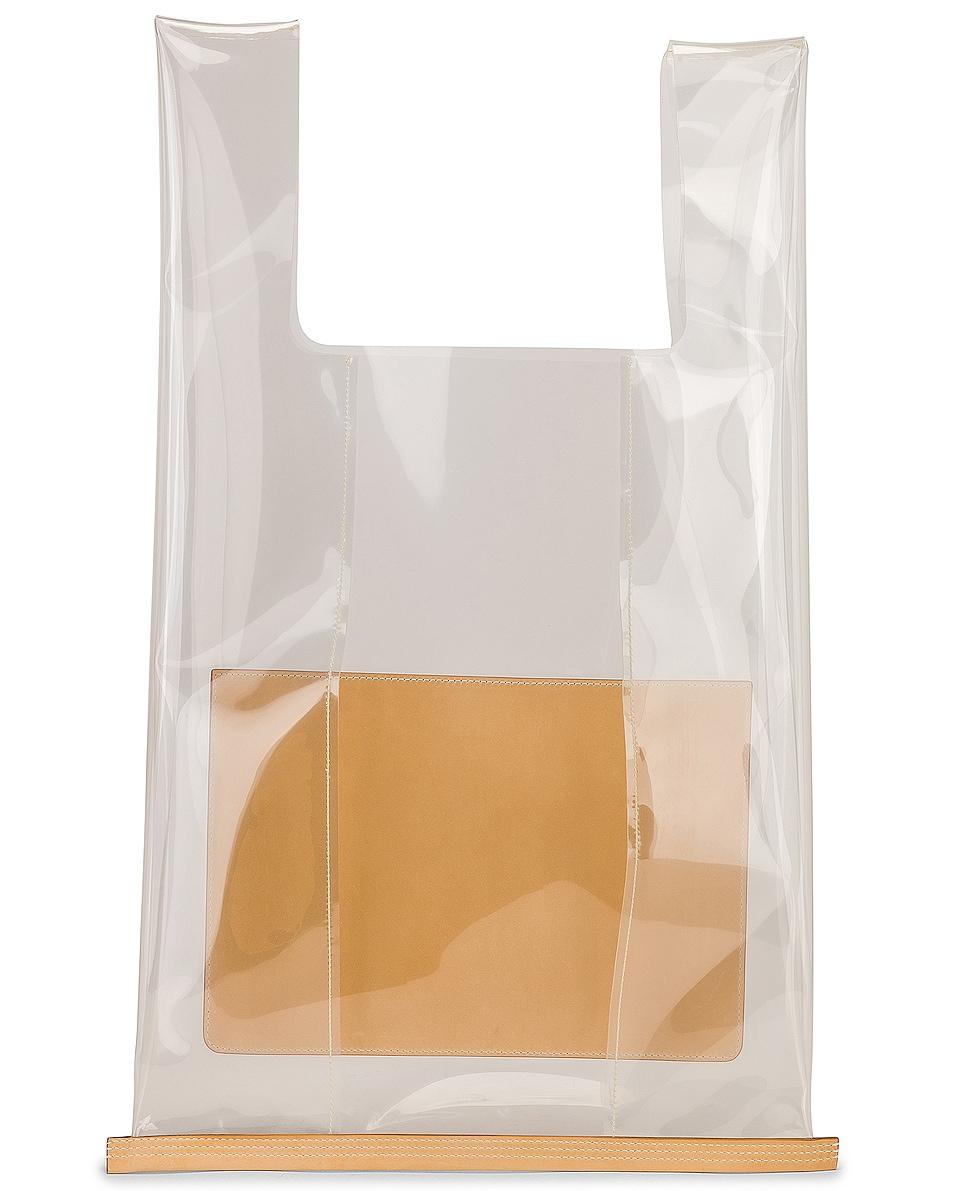 Image 3 of Jil Sander Logo Market Bag in Clear