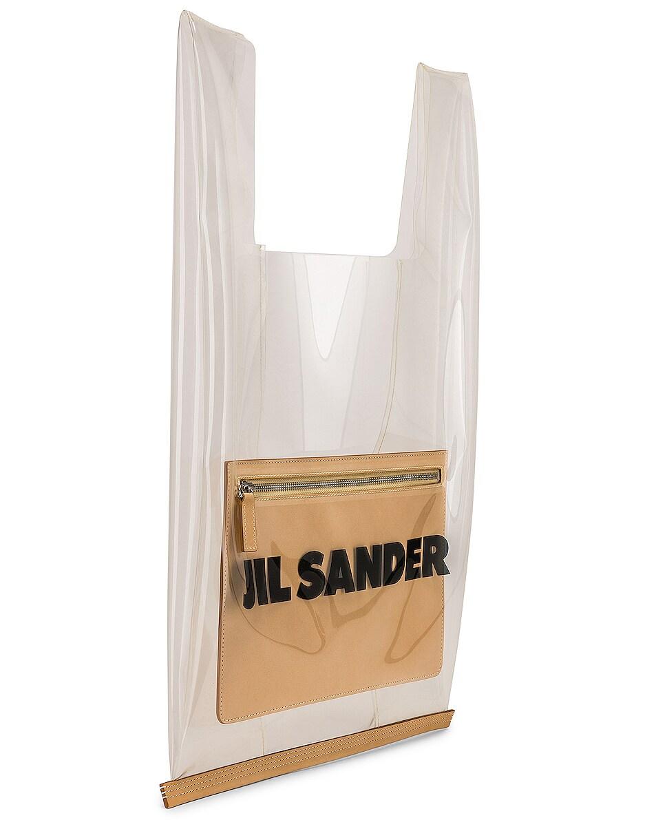 Image 4 of Jil Sander Logo Market Bag in Clear