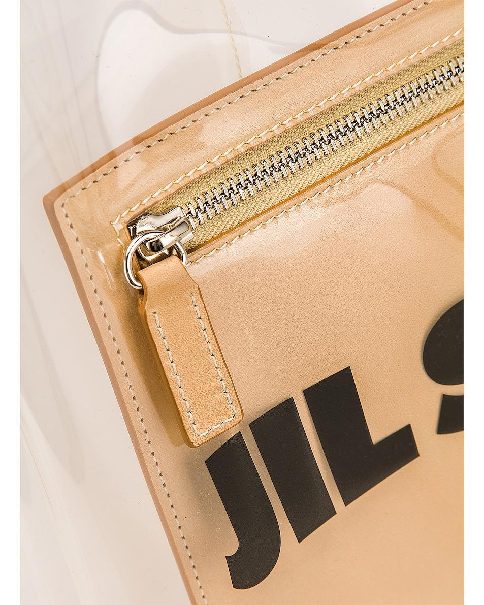 Image 7 of Jil Sander Logo Market Bag in Clear