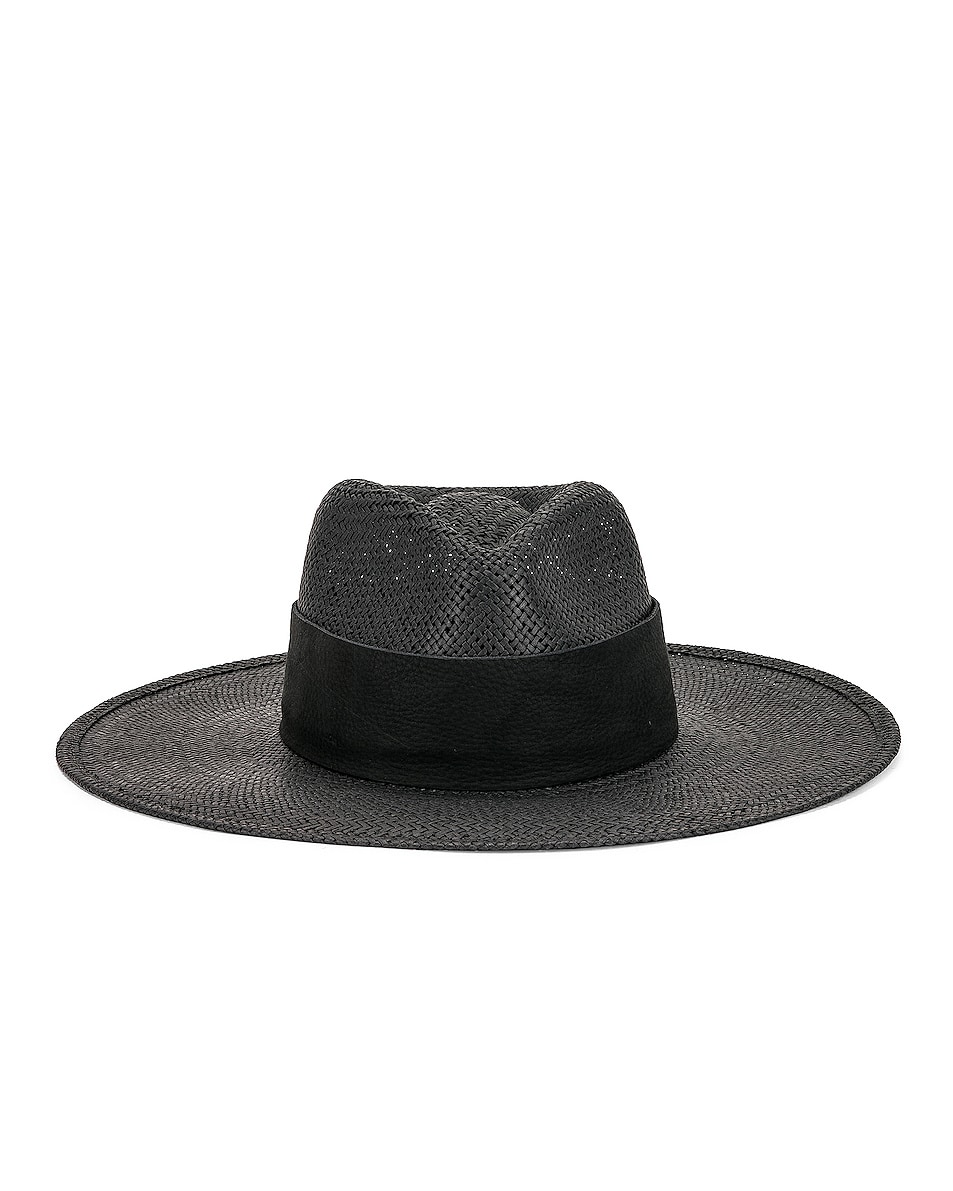 0ca59e684662a Image 1 of Janessa Leone Rose Packable Hat in Black