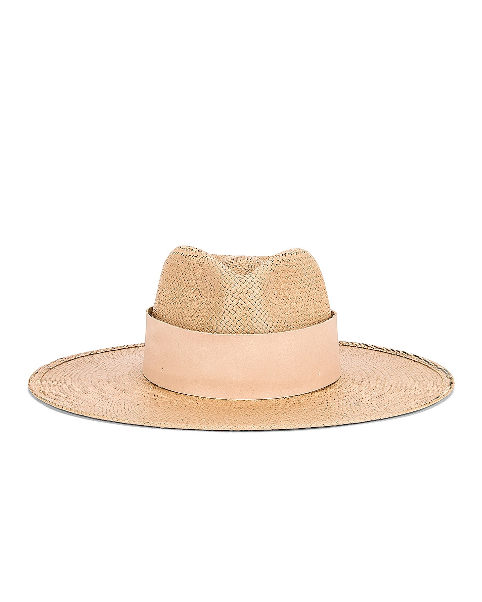 Image 1 of Janessa Leone Clemence Packable Hat in Sand