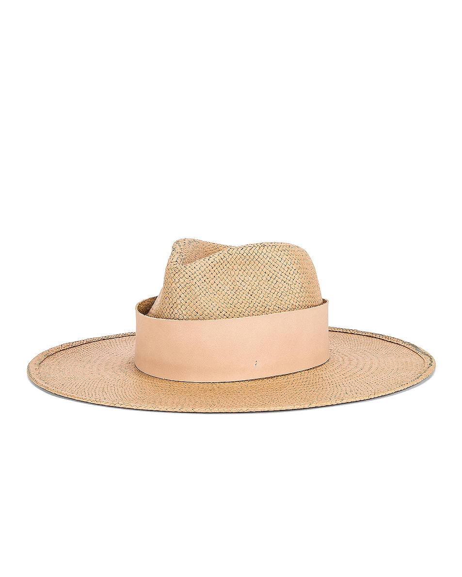 Image 2 of Janessa Leone Clemence Packable Hat in Sand