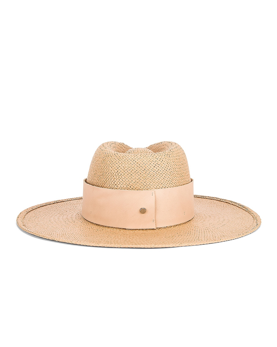 Image 4 of Janessa Leone Clemence Packable Hat in Sand