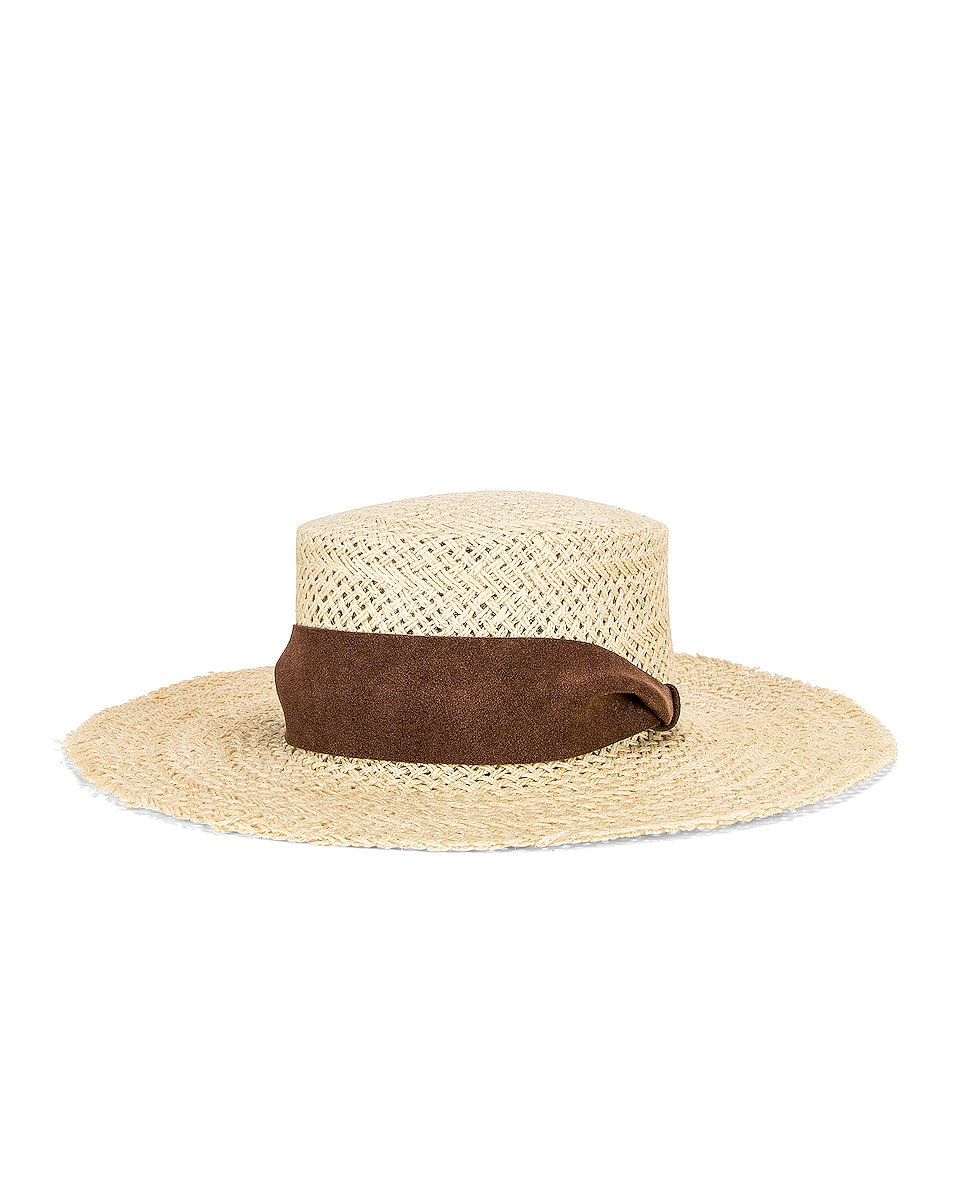 Image 1 of Janessa Leone Nina Hat in Natural & Brown