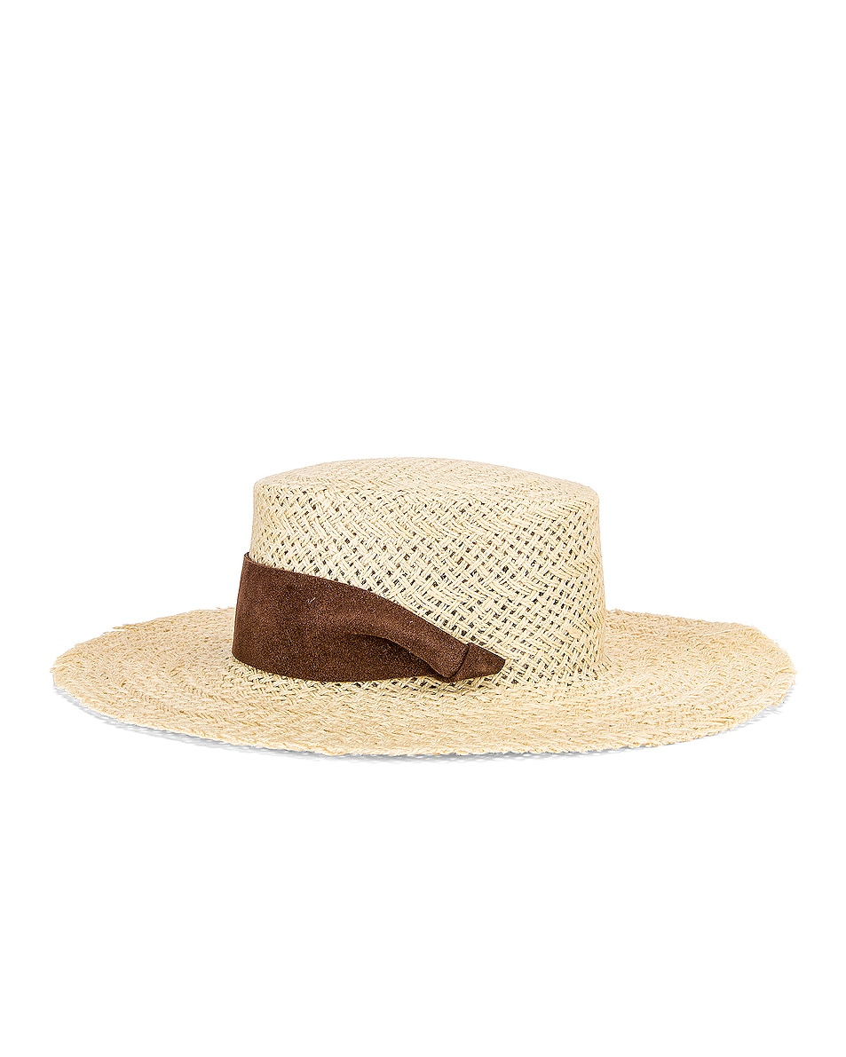 Image 3 of Janessa Leone Nina Hat in Natural & Brown