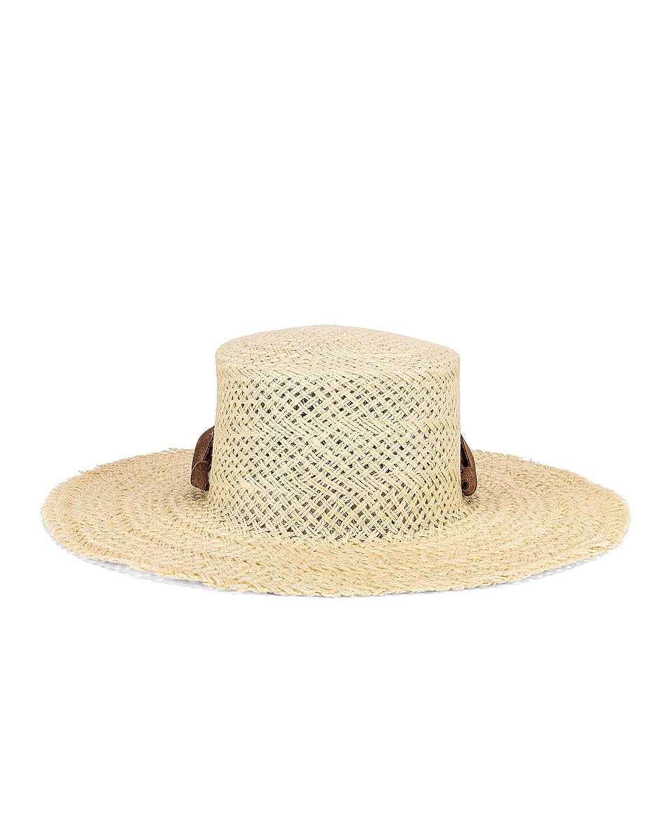 Image 4 of Janessa Leone Nina Hat in Natural & Brown