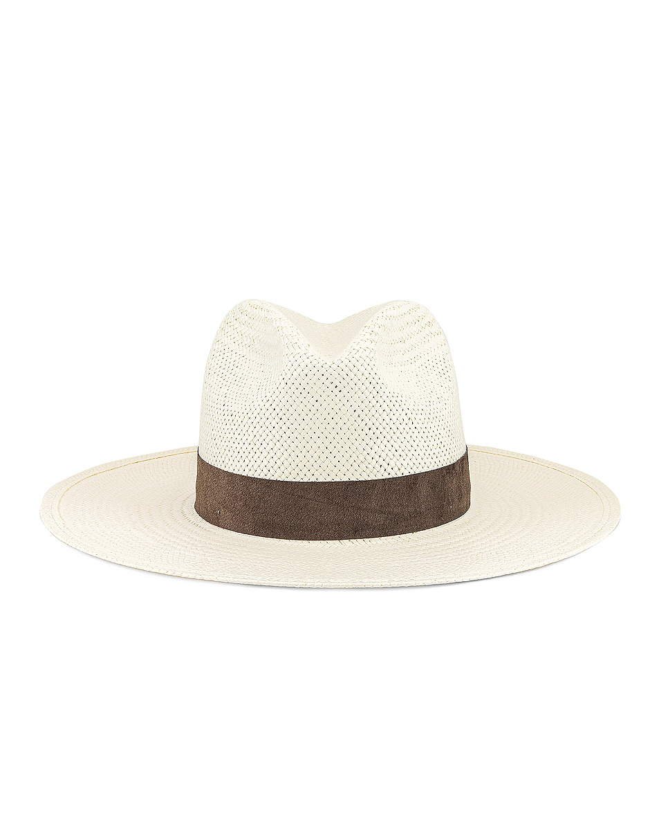 Image 1 of Janessa Leone Marcell Packable Hat in Bleach