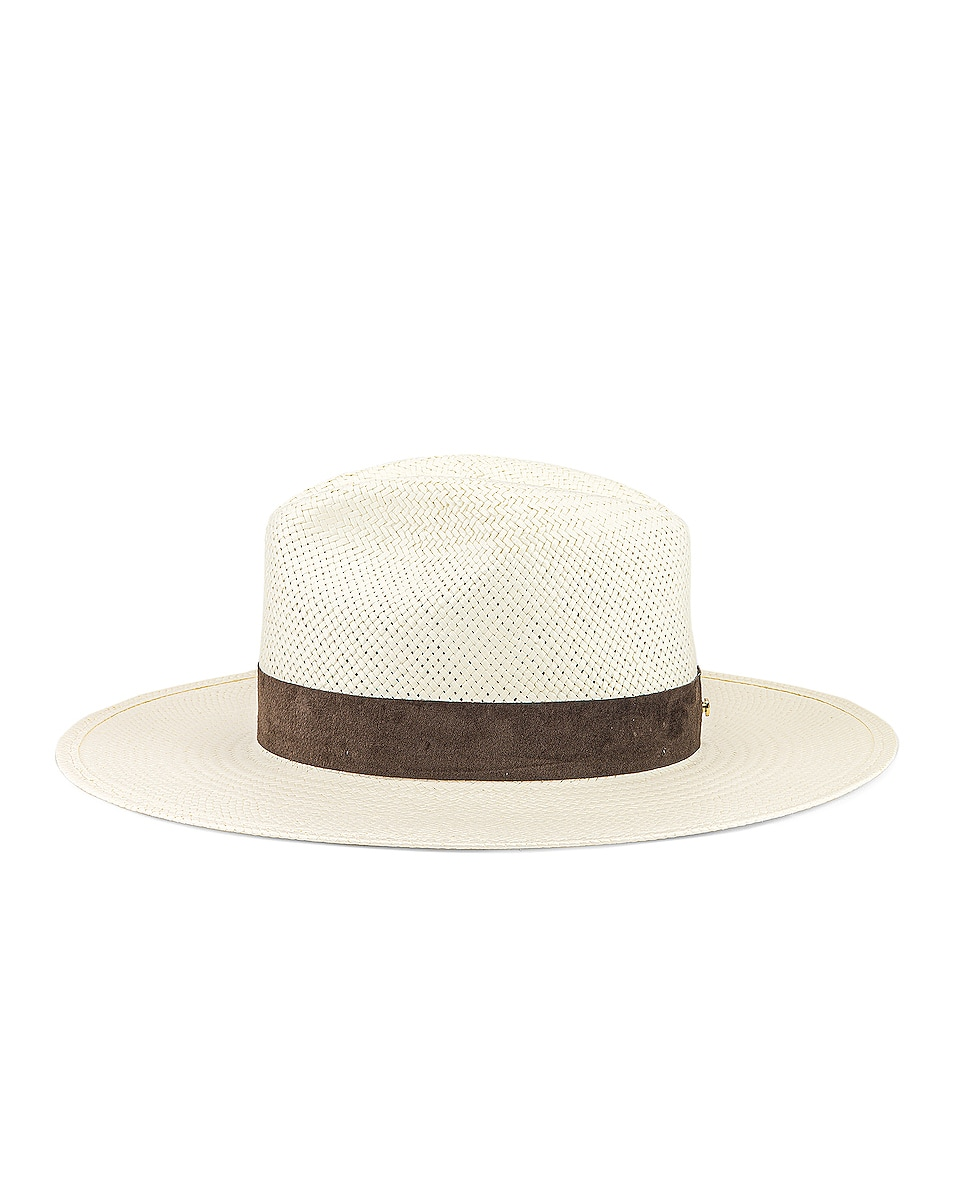 Image 3 of Janessa Leone Marcell Packable Hat in Bleach