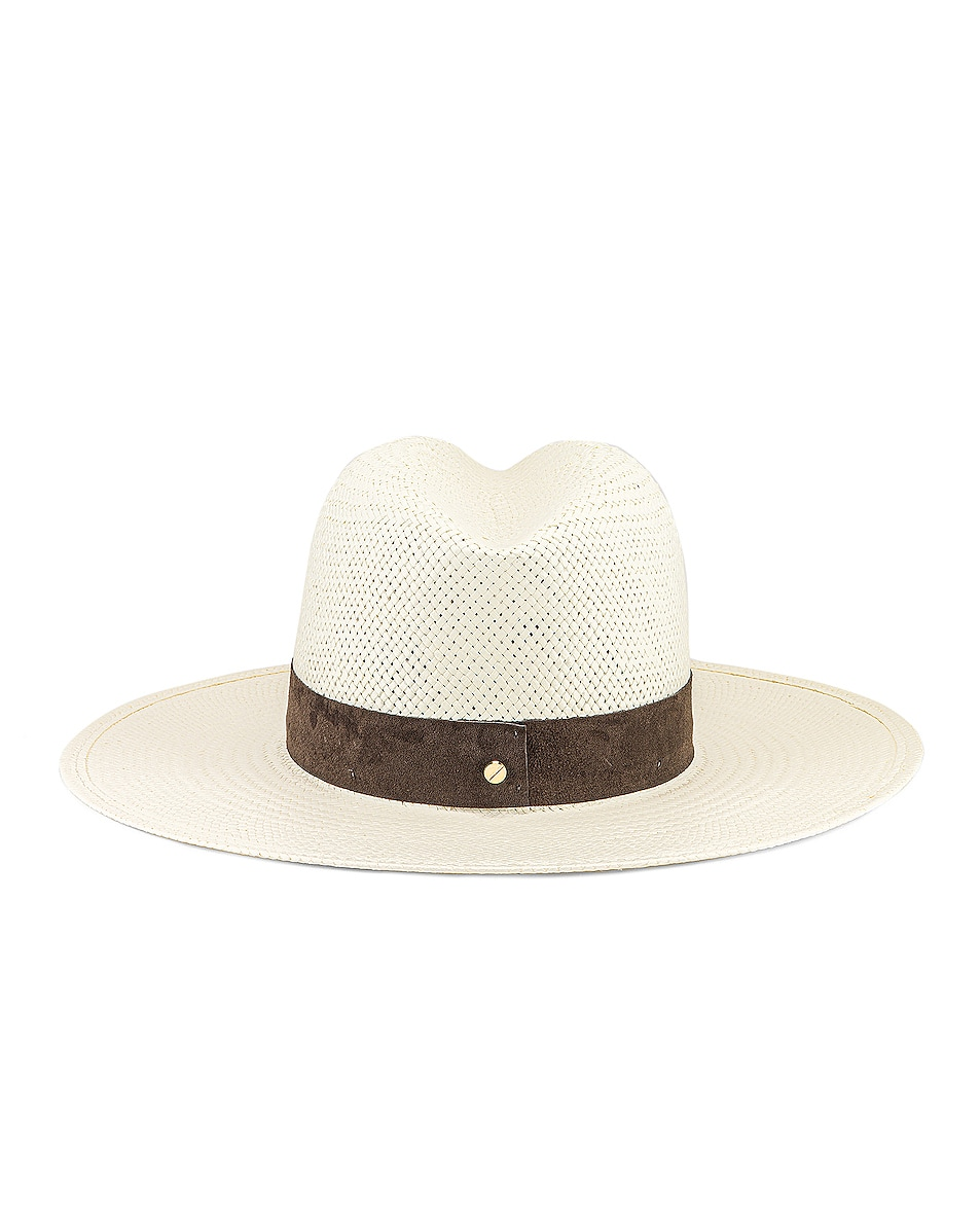 Image 4 of Janessa Leone Marcell Packable Hat in Bleach