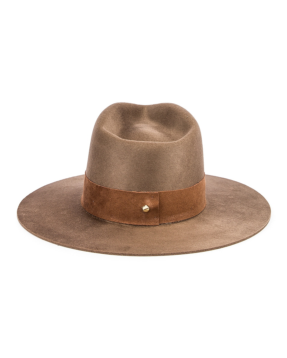 Image 4 of Janessa Leone Alara Hat in Brown