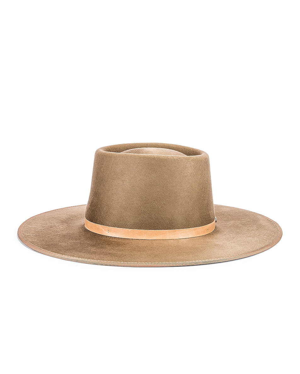 Image 3 of Janessa Leone Edie Hat in Tan