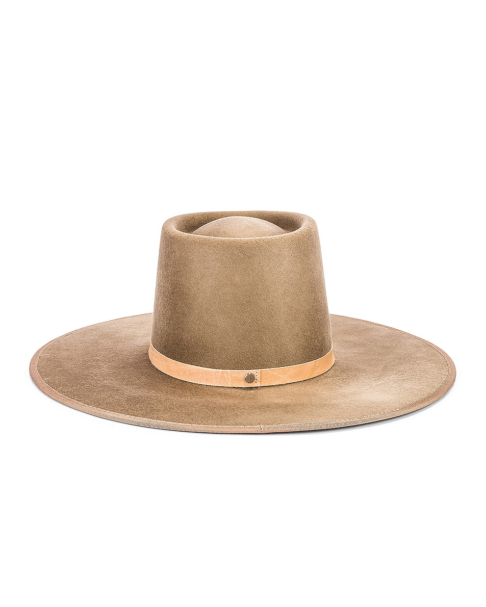 Image 4 of Janessa Leone Edie Hat in Tan