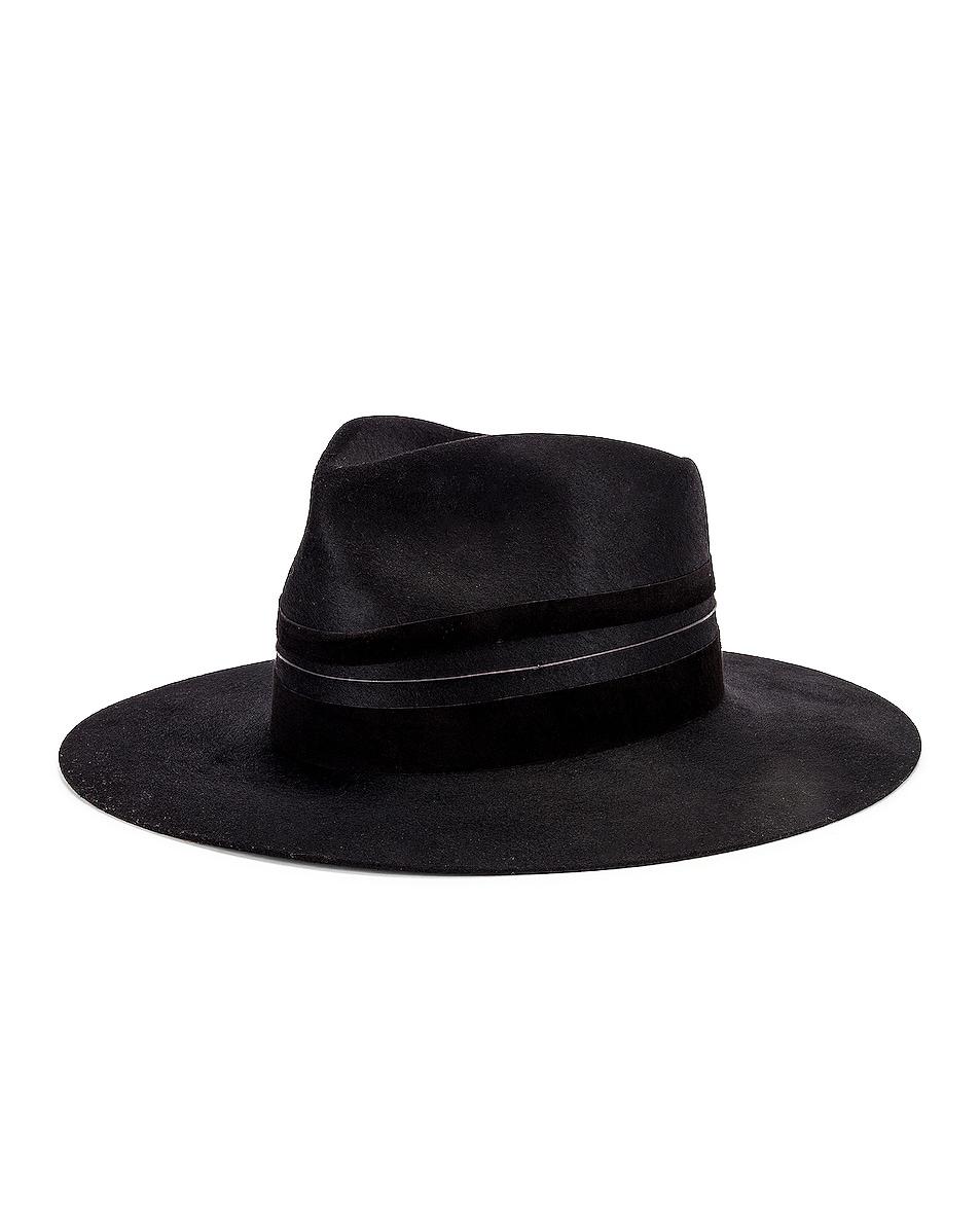 Image 2 of Janessa Leone Austin Hat in Black