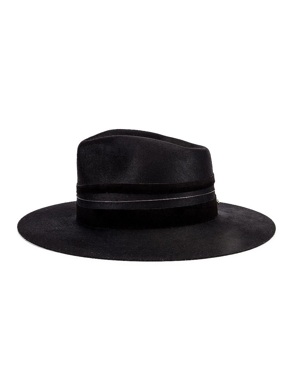 Image 3 of Janessa Leone Austin Hat in Black