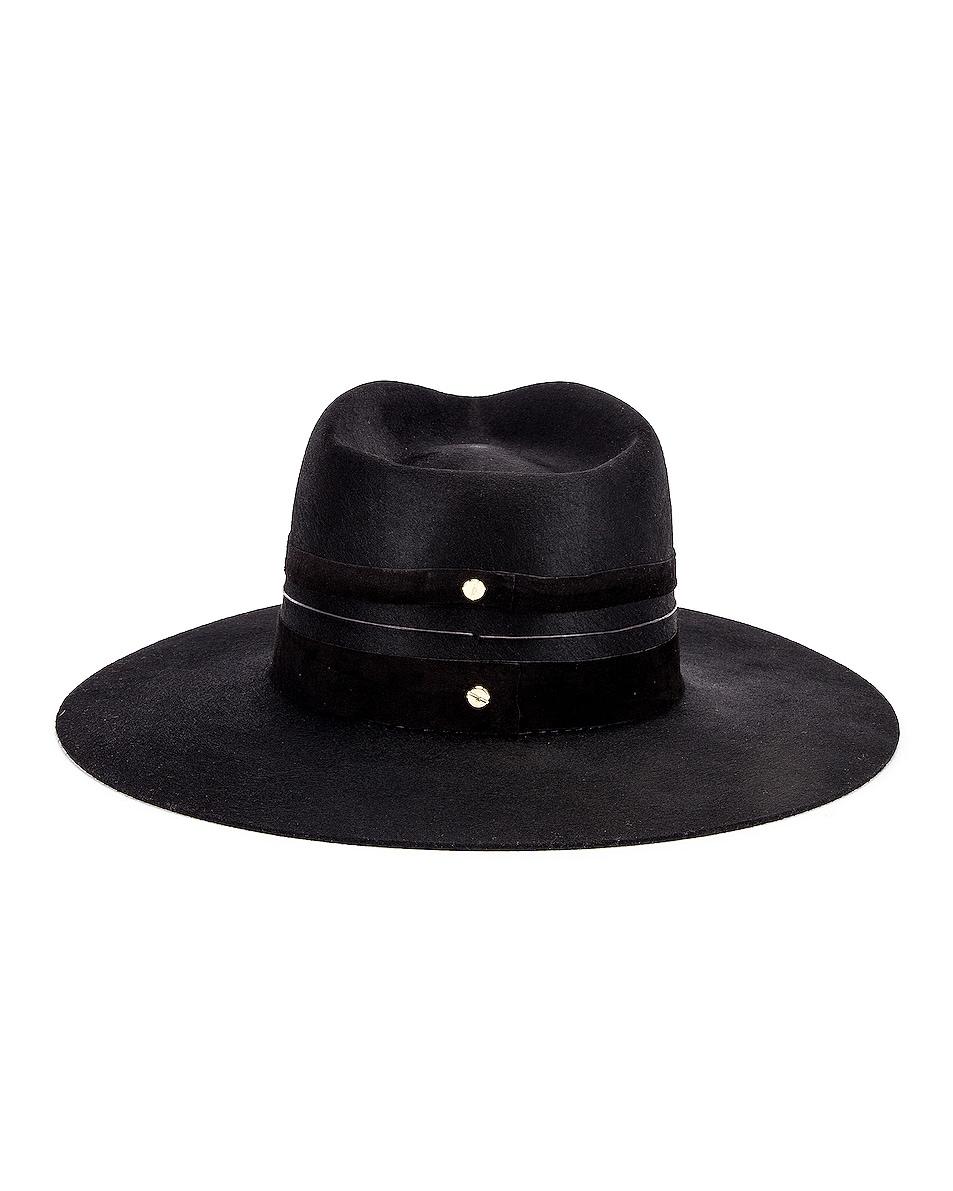 Image 4 of Janessa Leone Austin Hat in Black