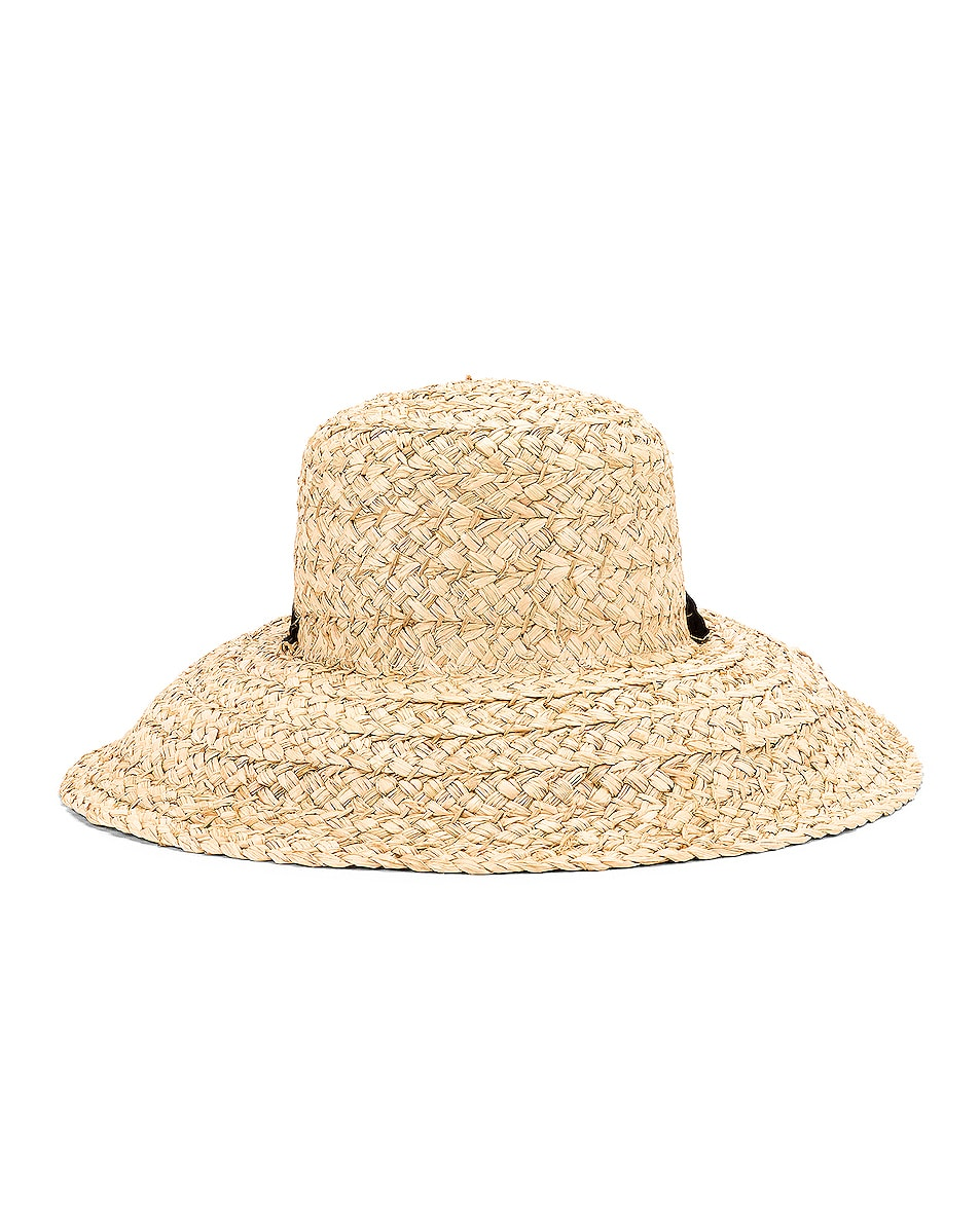 Image 1 of Janessa Leone Sammy Hat in Natural & Black