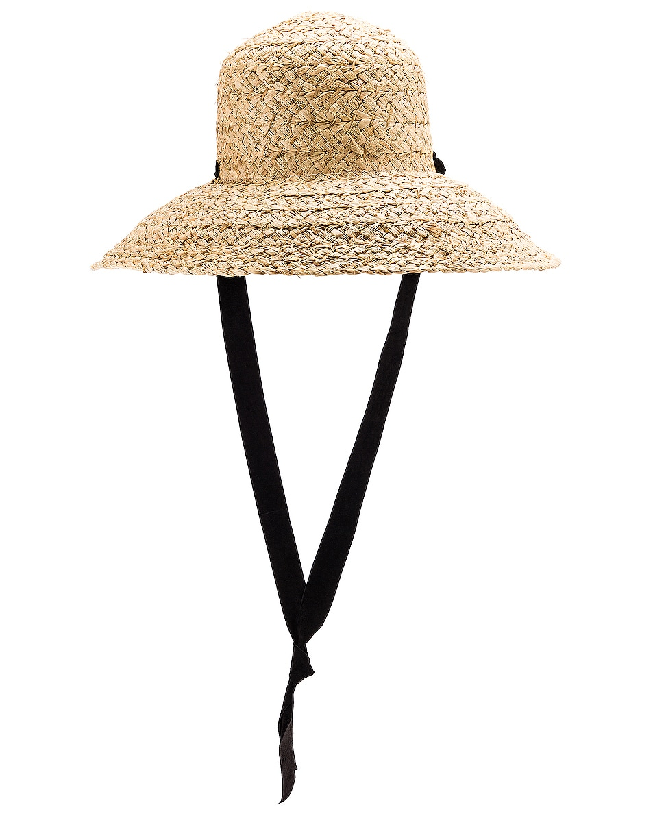 Image 2 of Janessa Leone Sammy Hat in Natural & Black