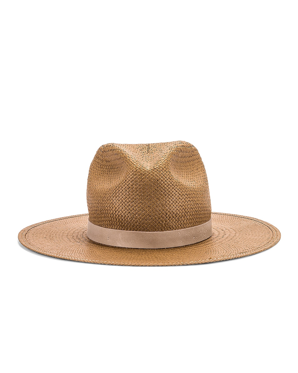 Image 1 of Janessa Leone Adriana Packable Hat in Brown
