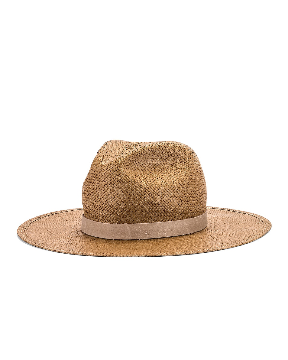 Image 2 of Janessa Leone Adriana Packable Hat in Brown