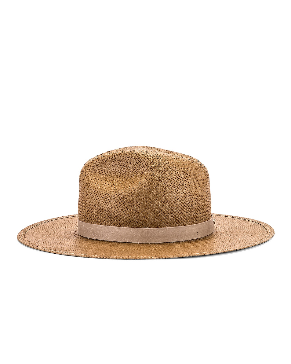 Image 3 of Janessa Leone Adriana Packable Hat in Brown