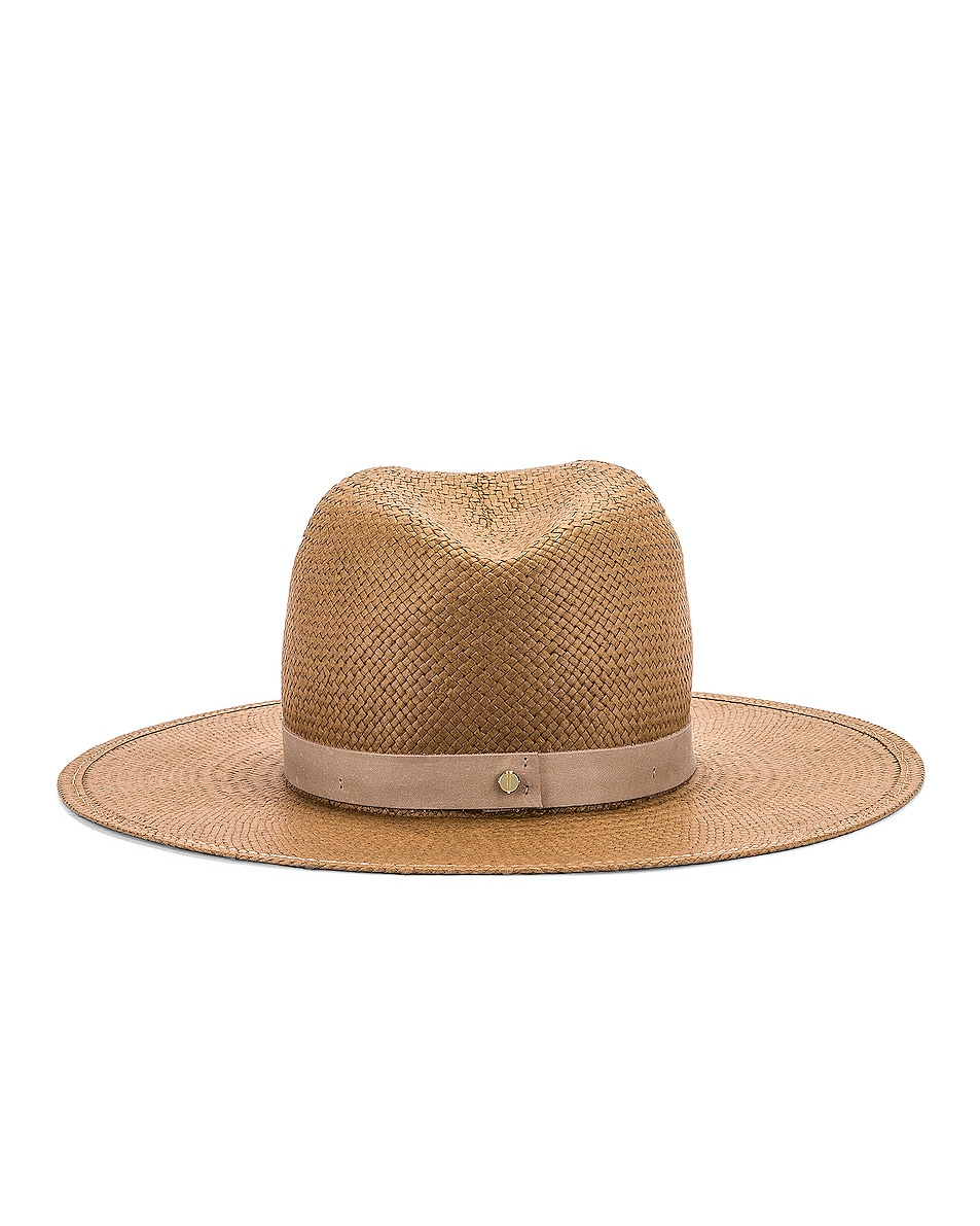 Image 4 of Janessa Leone Adriana Packable Hat in Brown