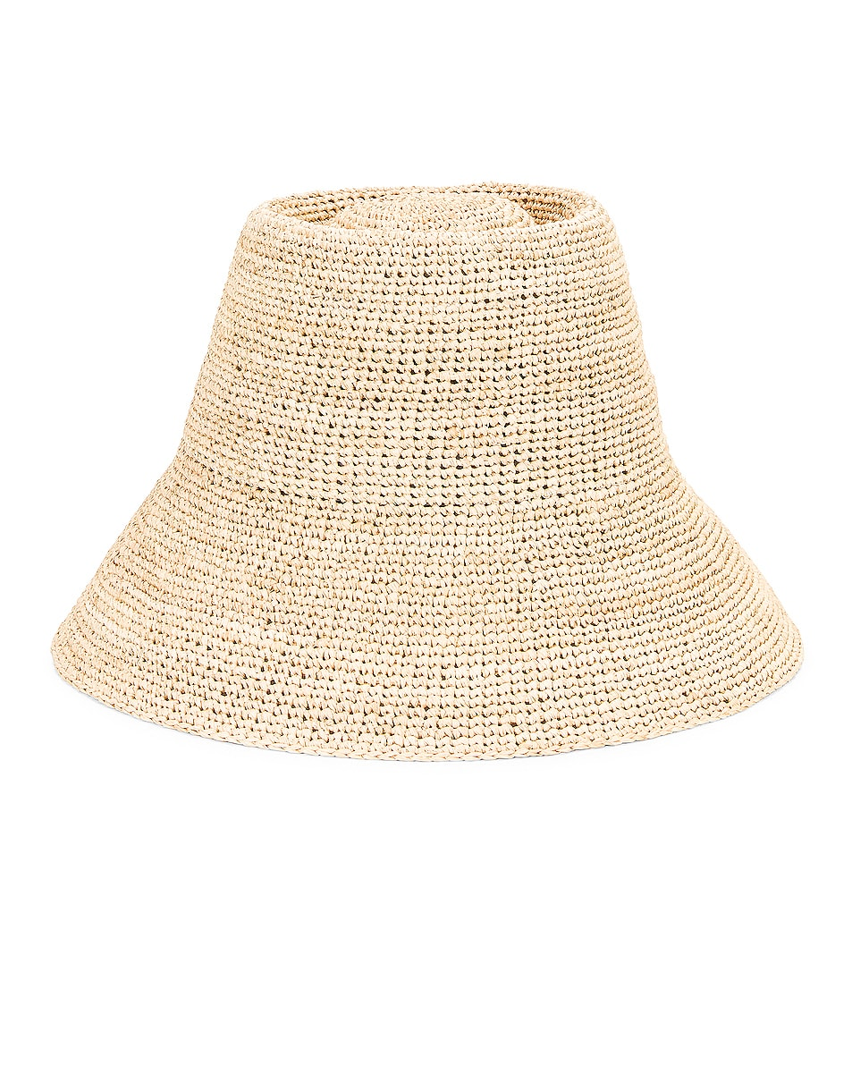Image 1 of Janessa Leone Felix Packable Hat in Natural