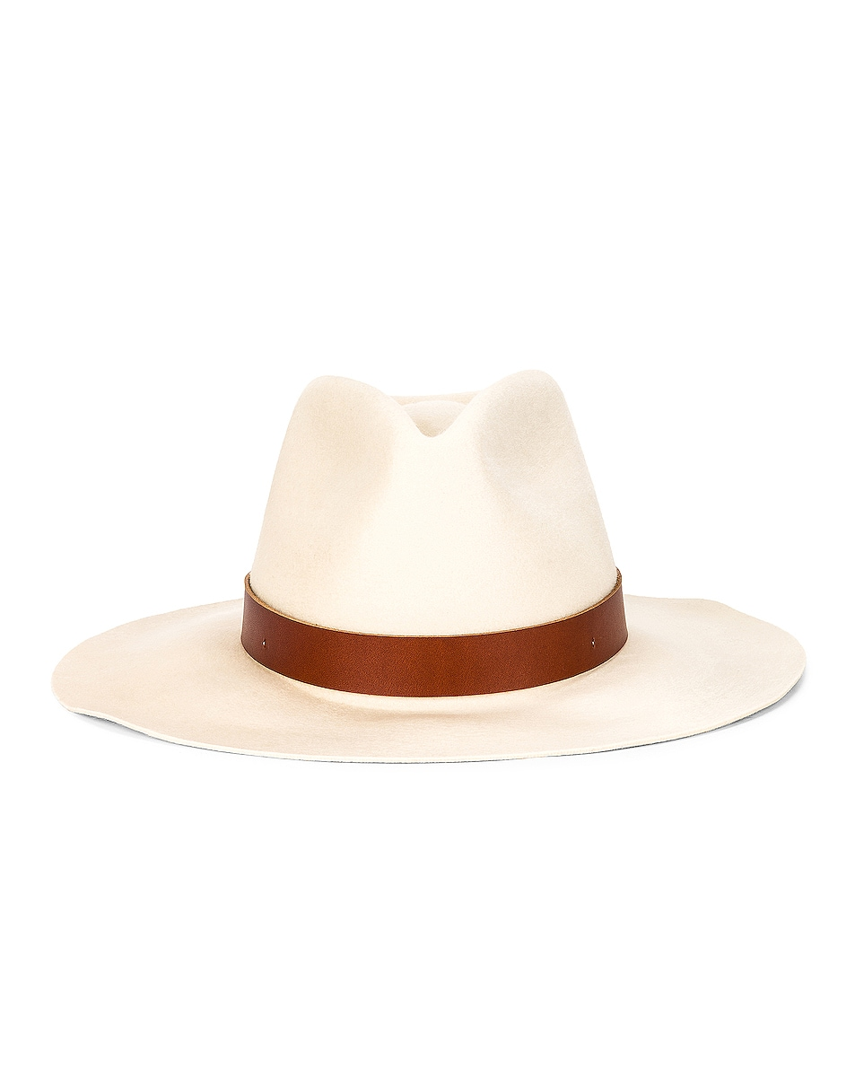 Image 1 of Janessa Leone Sable Fedora in Off White