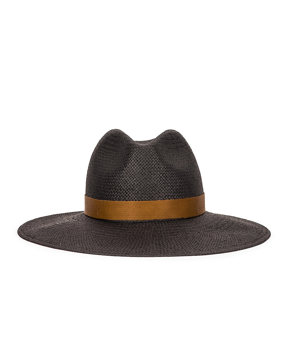 Image 1 of Janessa Leone Edmonia Packable Hat in Black