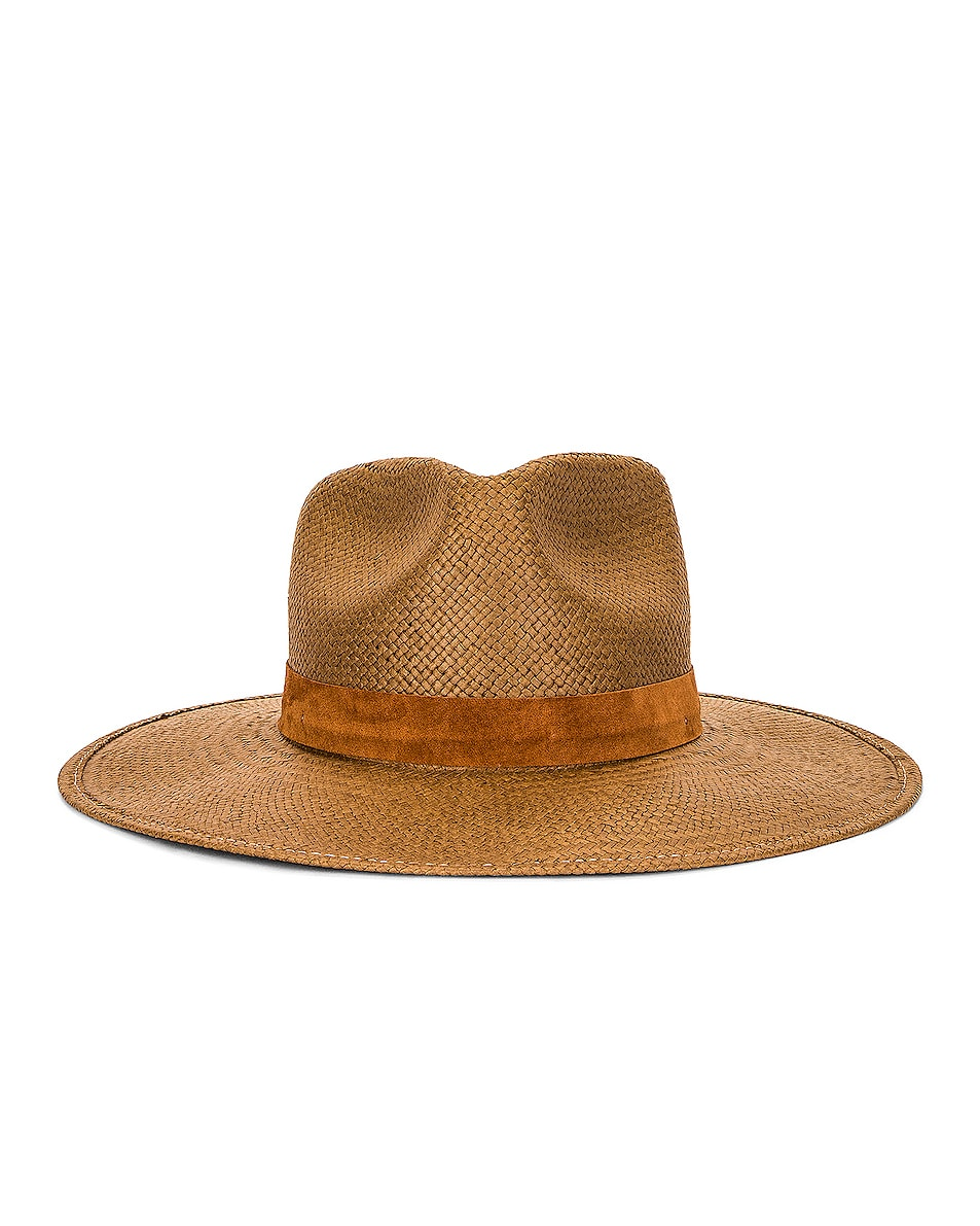 Image 1 of Janessa Leone Alexei Packable Hat in Brown