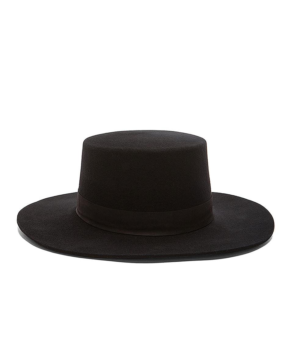 Image 1 of Janessa Leone Gabrielle Hat in Black